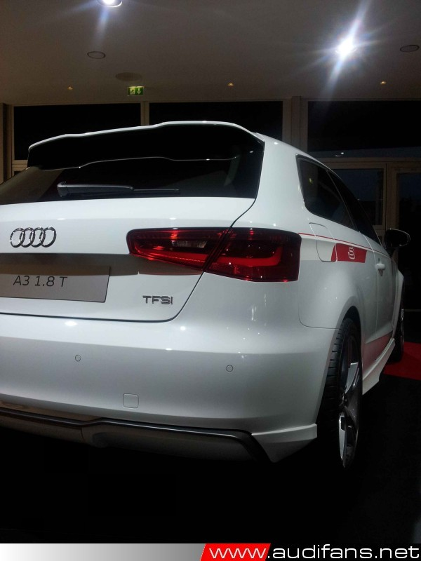 2012 A3 3 door saloon Tfsi rear view