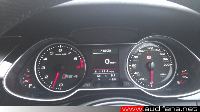 RS4 Instrument Binnacle. Photo Copyright audifans.net