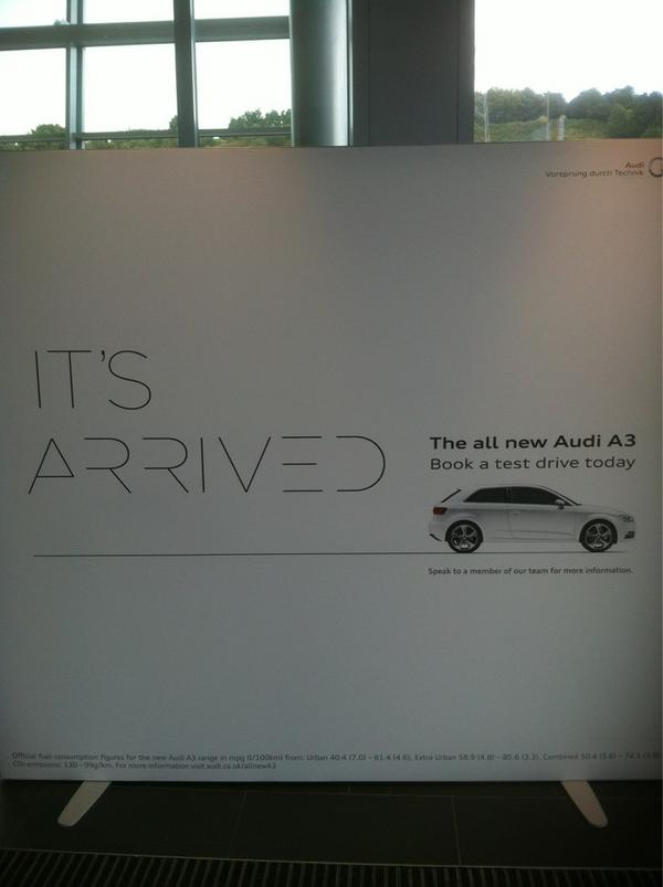 Bradford Audi A3 Launch on Twitter 01